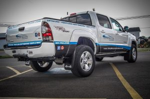 Custom vinyl truck wrap