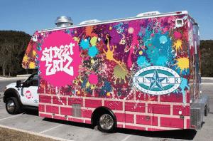 custom vinyl food truck wrap
