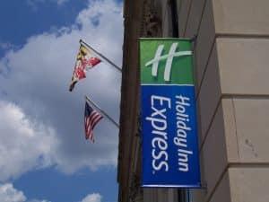 hanging exterior storefront sign