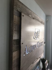 custom attractive indoor lobby sign